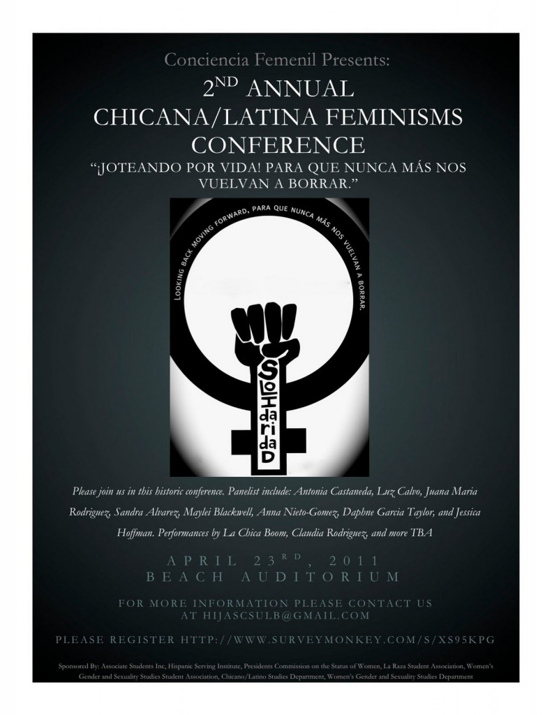 poster about latina feminist conference
